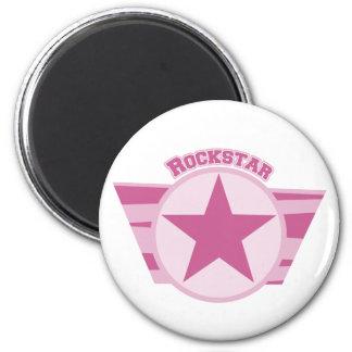 Pink Rockstar Design 2 Inch Round Magnet