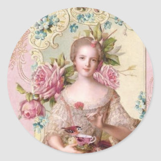 Pink Rococo Envelope Seal (Top10) Classic Round Sticker
