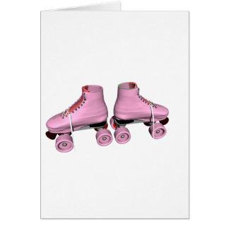 Pink Roller Skates Greeting Card