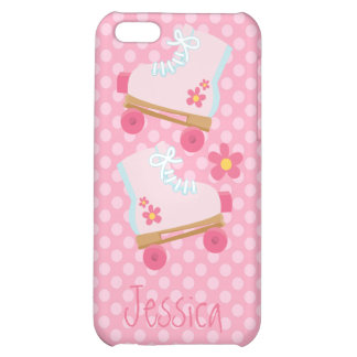 Pink Roller Skates with Polka Dots iPhone 5C Case