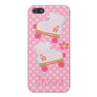 Pink Roller Skates with Polka Dots Cover For iPhone 5