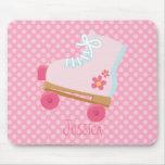 Pink Rollerskate Mousepad