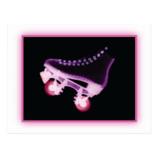 Pink Rollerskate Xray Postcard