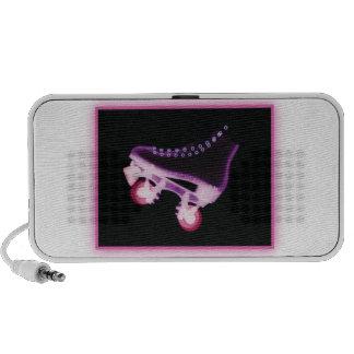 Pink Rollerskate Xray Portable Speakers