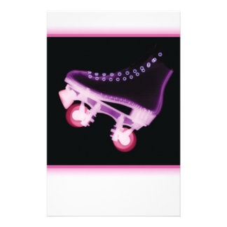Pink Rollerskate Xray Stationery