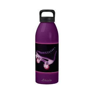 Pink Rollerskate Xray Water Bottles