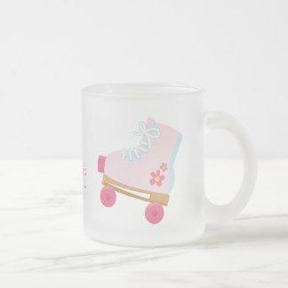 Pink Rollerskates Frosted Mug