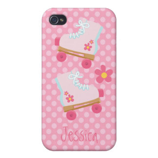 Pink Rollerskates iPhone 4 Cases