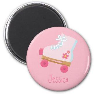 Pink Rollerskates Magnet magnet