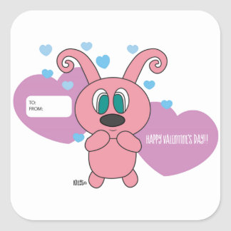 Pink Rollys Valentine's Day Sticker