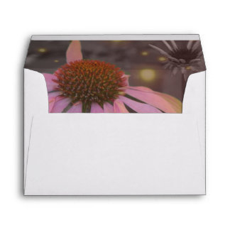 Pink romantic daisy flower envelope