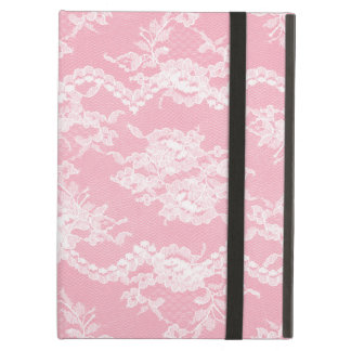 Pink Romantic Lace iPad Folio Case
