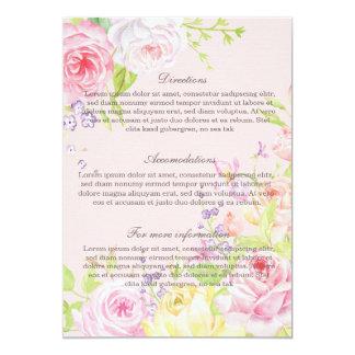 Pink Romantic Watercolor Roses Wedding Invitation