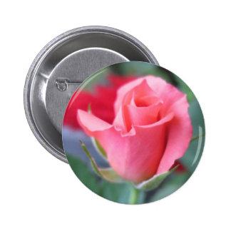 Pink Rose 2 Inch Round Button