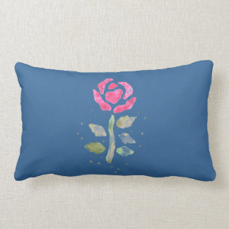 Pink Rose 2 (Watercolor by Kim Turnbull Art) Pillow