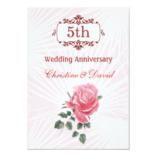 Wedding Gifts For 5th Anniversary : 5th Wedding Anniversary Invitations & Announcements Zazzle