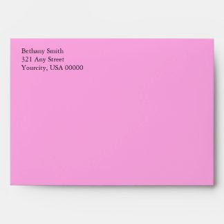 Pink Rose A7 5x7 Custom Pre-addressed Envelopes