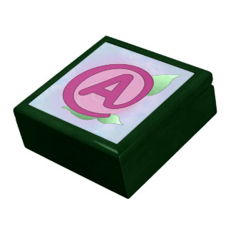 """Pink Rose """"A"""" Gift/Jewelry Box"""