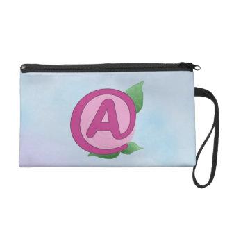 "Pink Rose ""A"" Wristlet Clutch Bag"