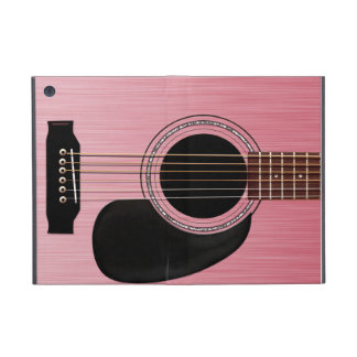 Pink Rose Acoustic Guitar iPad Mini Case