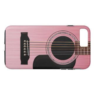 Pink Rose Acoustic Guitar iPhone 7 Plus Case