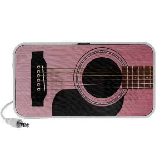 Pink Rose Acoustic Guitar Notebook Speaker