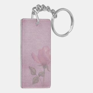Pink Rose Acrylic Keychain