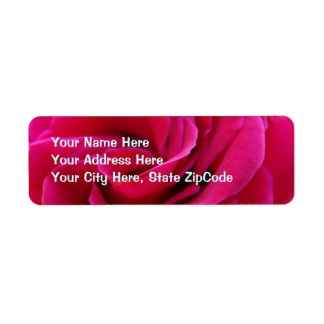 Pink Rose Address Labels custom Newly Wed Married