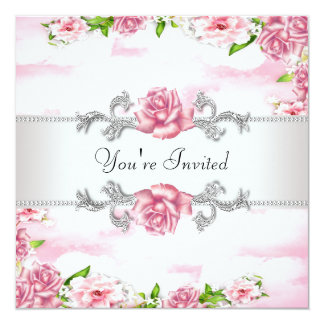 Pink Rose All Occasion Party Card