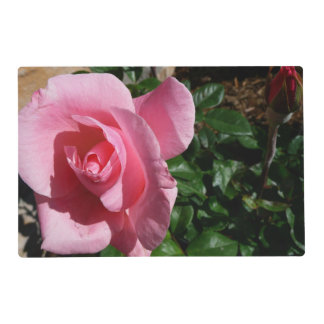 Pink Rose and Bud Placemat