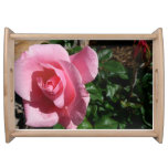 Pink Rose and Bud Serving Tray