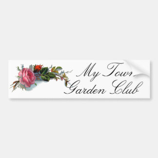Pink Rose and Bud Victorian Bumper Sticker