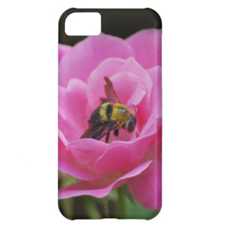 Pink Rose and bumble bee Cover For iPhone 5C