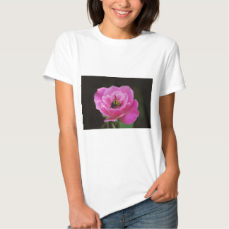Pink Rose and bumble bee Shirt