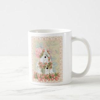 Pink Rose and Dog Mug