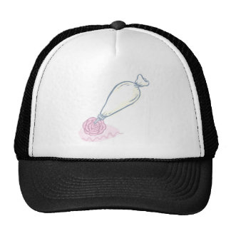 Pink Rose and Pastry Bag Trucker Hat