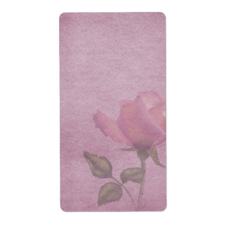 Pink Rose Apothecary Label