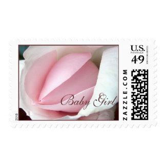 Pink Rose Baby Girl Stamp