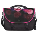 pink rose background commuter bags