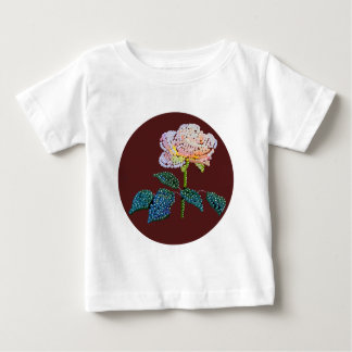 pink rose Bedazzled Baby T-Shirt