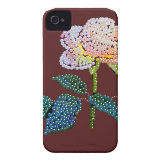 pink rose Bedazzled iPhone 4 Cover