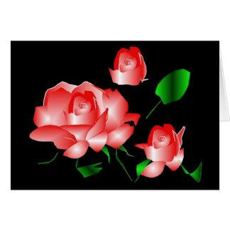 """Pink Rose Bereavement Thank You"" Card Greeting Card"