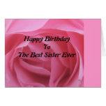 Pink Rose Best Sister Birthday GreetingCard Greeting Card