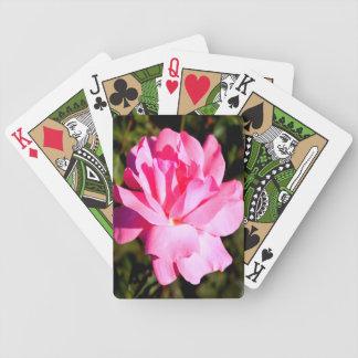 Pink Rose Bicycle Playing Cards
