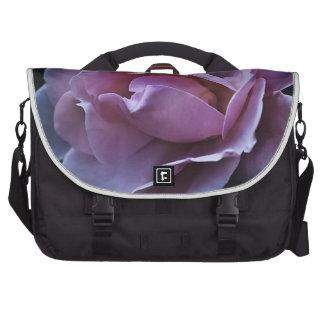 pink rose bloom laptop commuter bag