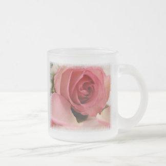 Pink Rose Blossom Frosted Mug