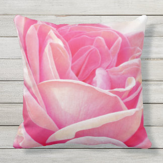 Pink Rose Outdoor Pillows & Cushions Zazzle