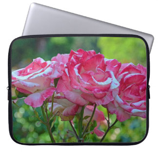 Pink rose blossoms computer sleeve