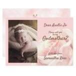 Pink rose blush Godmother invitation