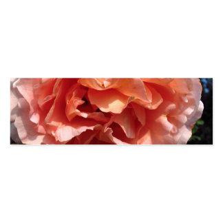 Pink Rose Bookmark Business Card Templates